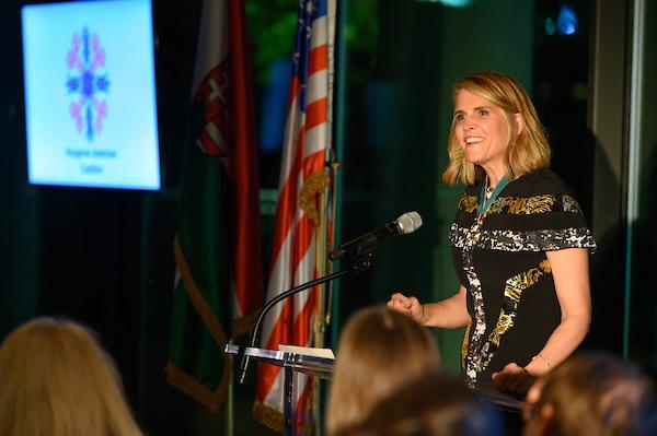 Ambassador Colleen Bell delivering her remarks