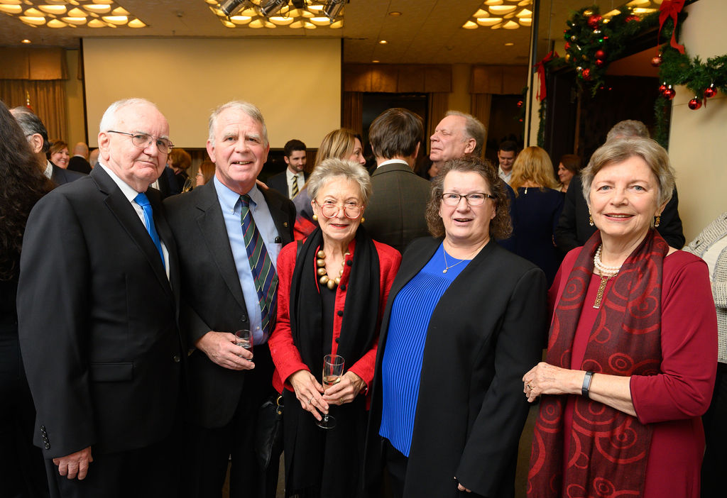 Dr. Árpád Szurgyi, Ambassador Thomas Robertson, Mrs. Antoinette Robertson, Mrs. Elizabeth Szurgyi, Mrs. Edith K. Lauer