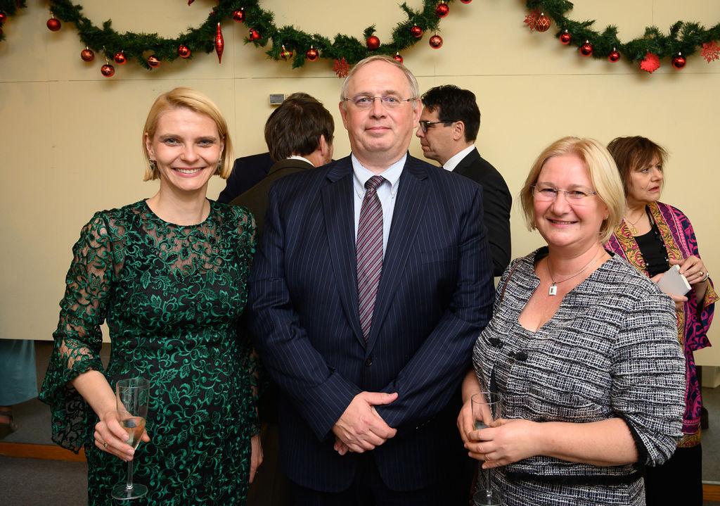 Consul General of Chicago Dr. Zita Bencsik, Dr. Zsolt Hetesy, Mrs. Katalin Hetesy