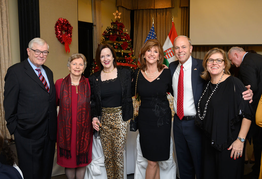 Ambassador April H. Foley, Mrs. Susan Hutchison, Mr. Andy Hutchison, Mrs. Andrea Lauer Rice