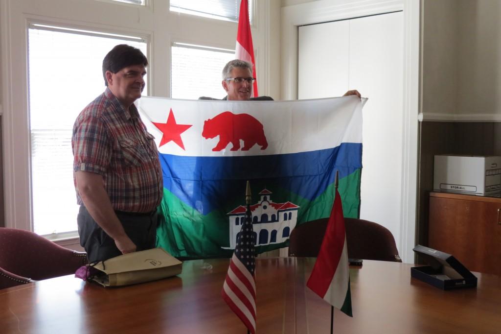 Sonoma-Tokaj sister cities: the Mayor of Tokaj on the left