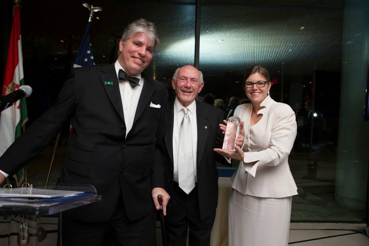 President Max Teleki, Mr. J. Joe Adorjan, Coalition VP Andrea Lauer-Rice