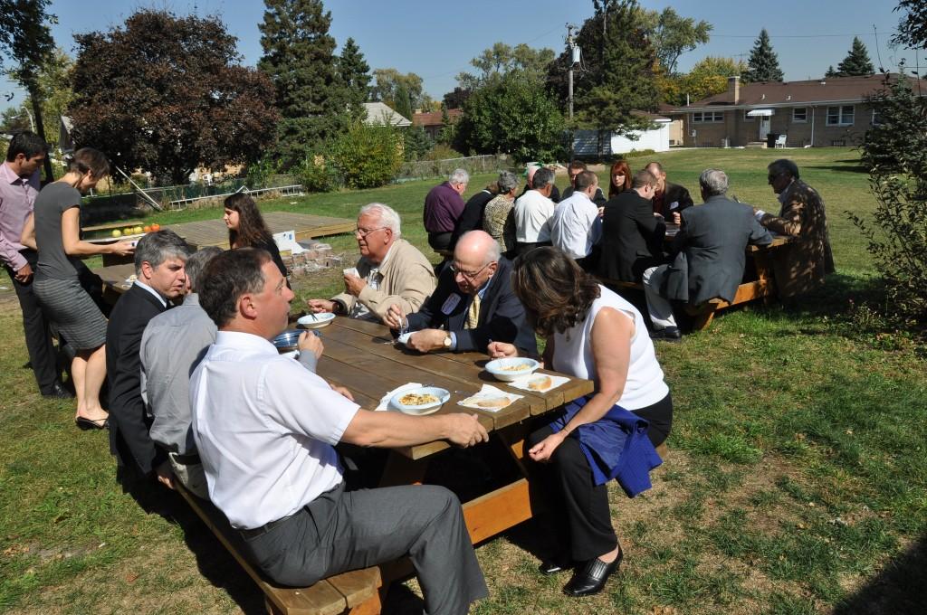 HATOG V participants at lunchbreak