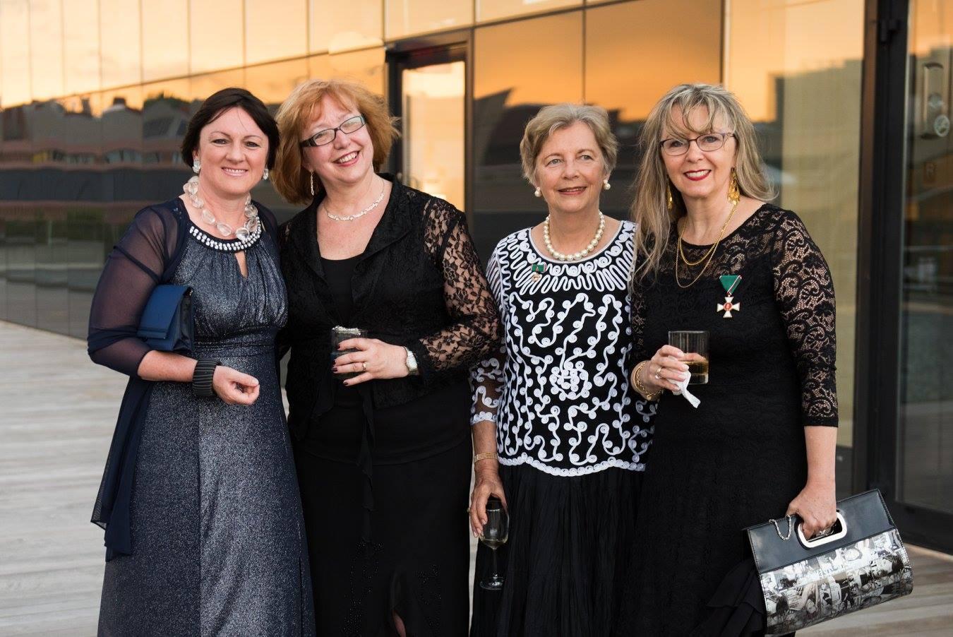 Ambassador Dr. Réka Szemerkényi, Dr. Ágnes Virga, Mrs. Edith Lauer, Ms. Csilla Grauzer