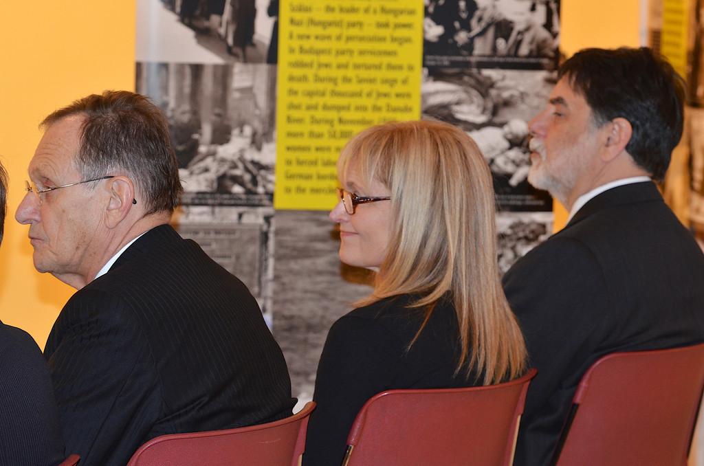 Amb. György Szapáry, Kathrina Lantos Swett, Dr. Tamás Fellegi - Photo by: Babette Rittmeyer/Lantos Foundation