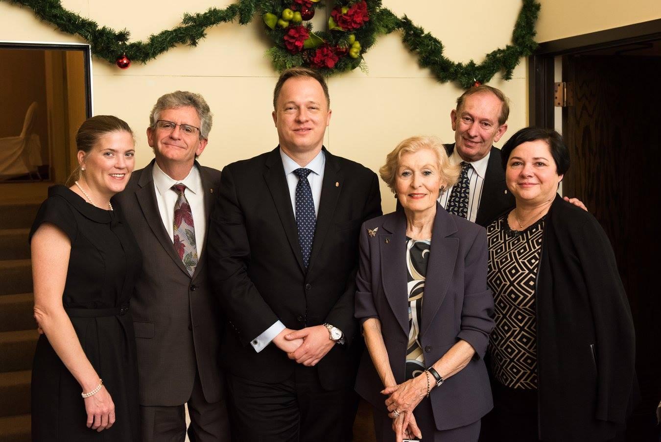 Ms. Alicia McCart, Mr. John E. Parkerson, Ambassador Ferenc Kumin, Mrs. Eva E. Voisin, Mr. Paul Voisin, Ms. Katalin Pearman