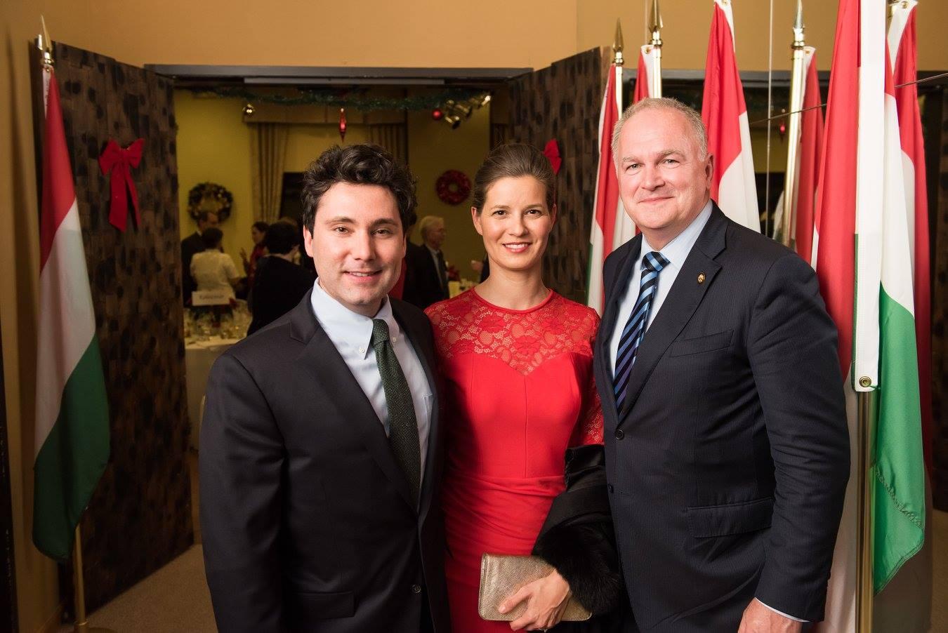 Mr. Marion Smith, Mrs. Anna Smith Lacey, Ambassador Dr. László Szabó