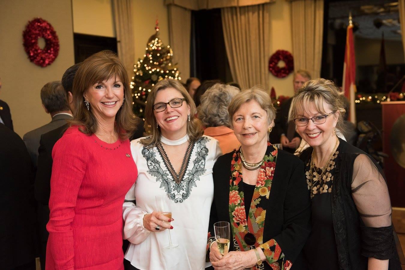 Ms. Susan Hutchison, Coalition President Mrs. Andrea Lauer Rice, Coalition Chair Emerita Mrs. Edith K. Lauer, Coalition Vice President Ms. Csilla Grauzer