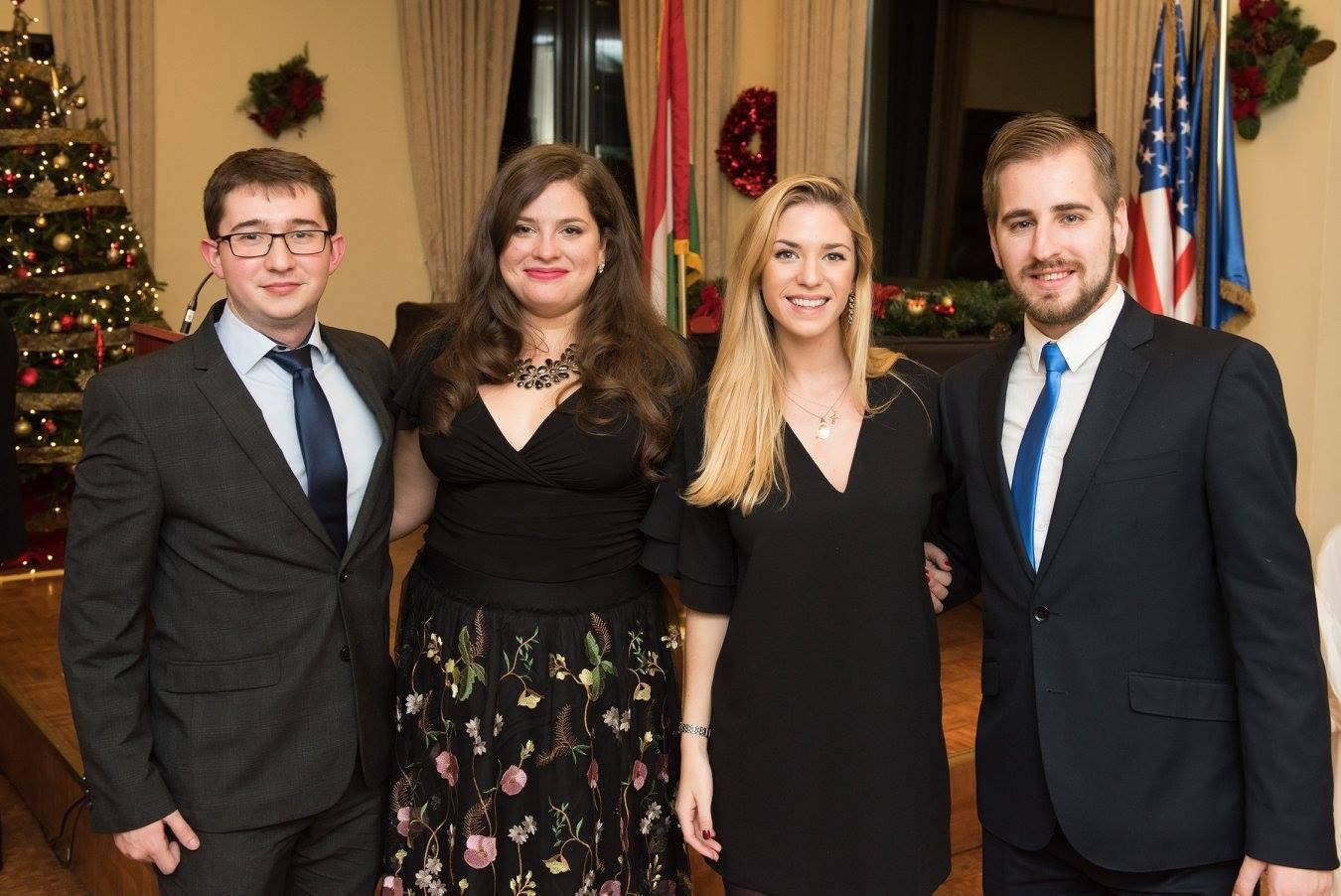 CIP intern Mr. Máté Mátyás, Coalition Program Coordinator Ms. Noémi Bánhidi, CIP intern Ms. Faye Gillespie, CIP intern Mr. László Szerencsés