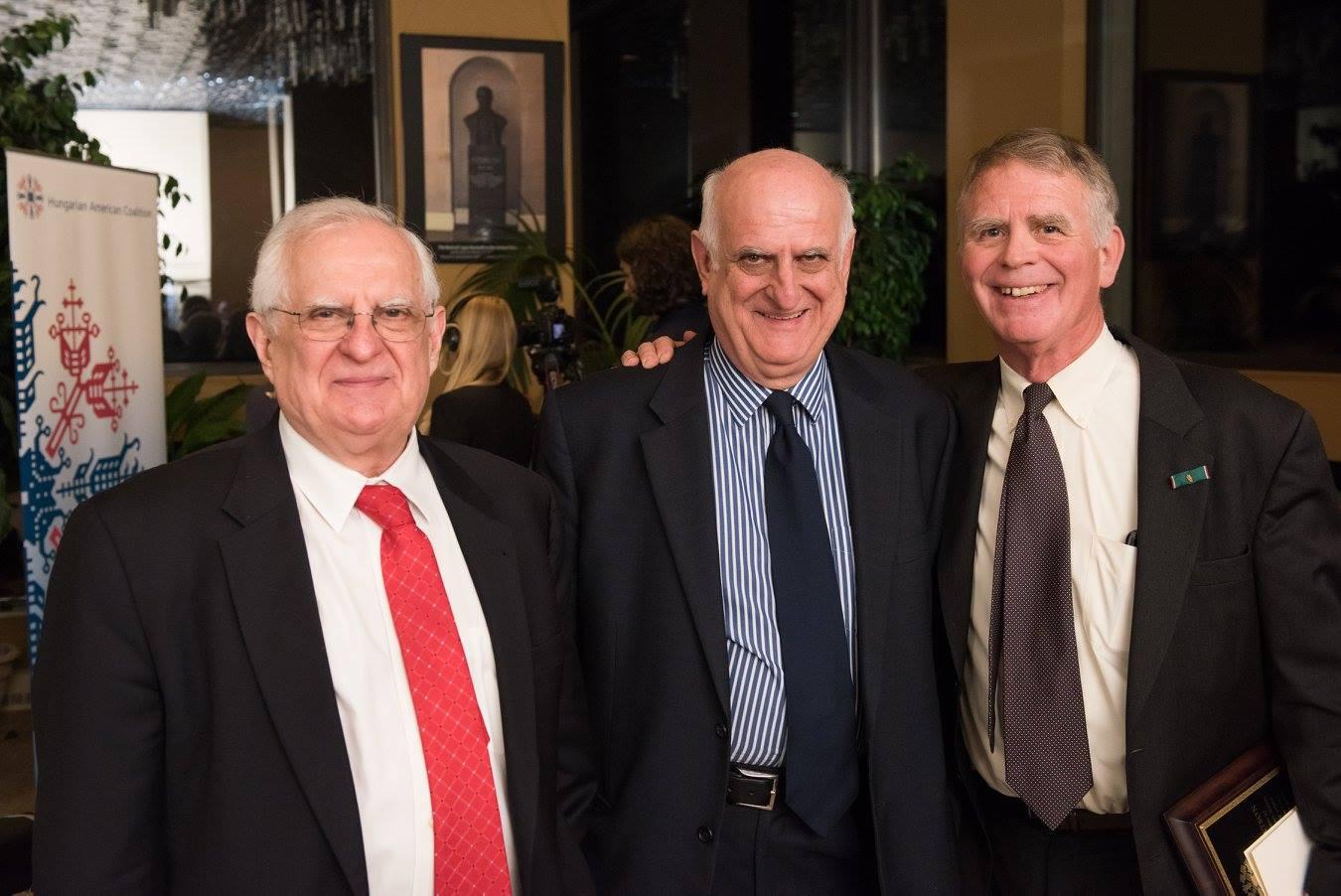 Coaliton Treasurer Mr. Zsolt Szekeres, Coalition Program Coordinator Mr. János Szekeres, Ambassador Thomas Robertson