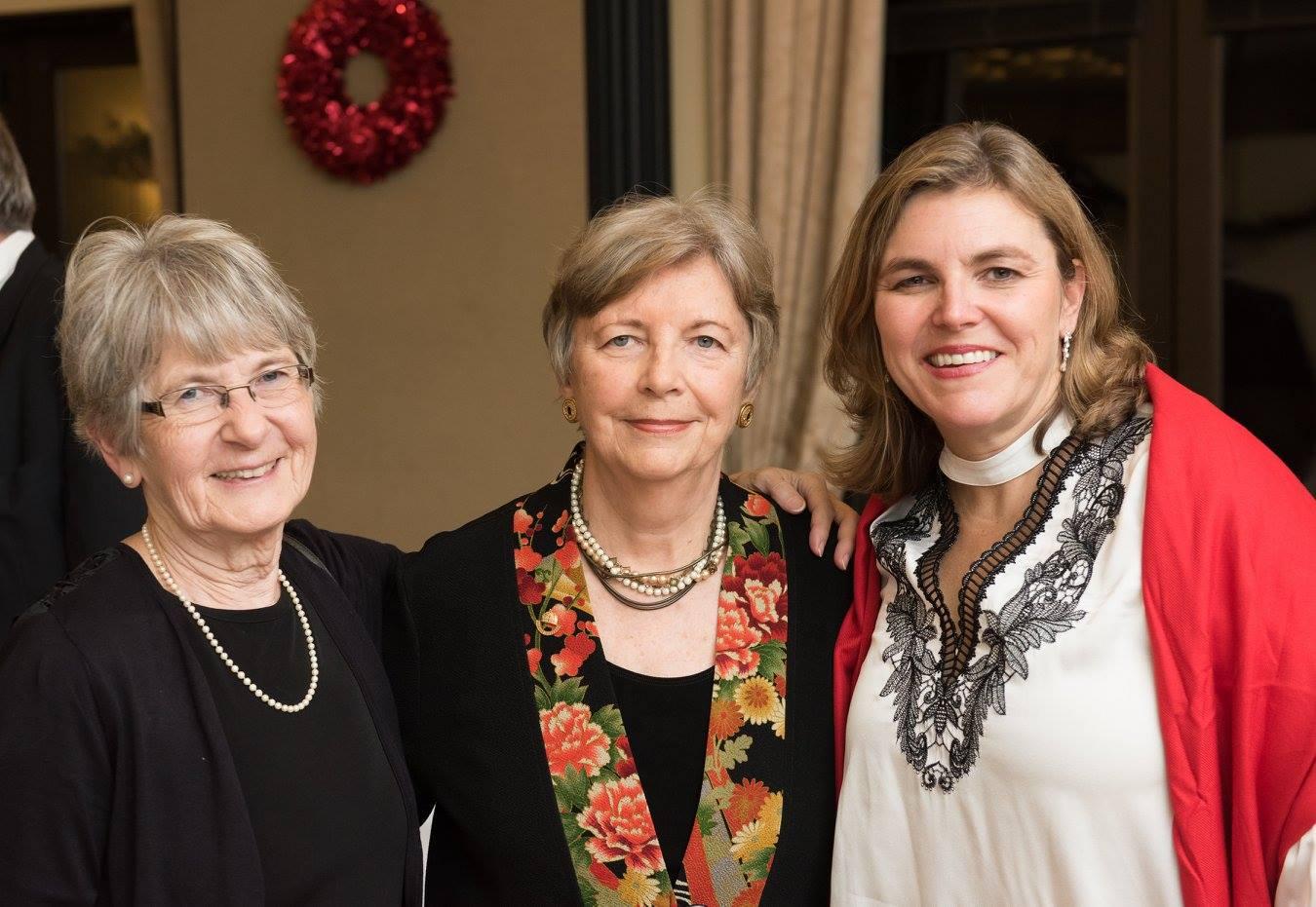 Mrs. Éva Kovács, Coalition Chair Emerita Mrs. Edith K. Lauer, Coalition President Mrs. Andrea Lauer Rice