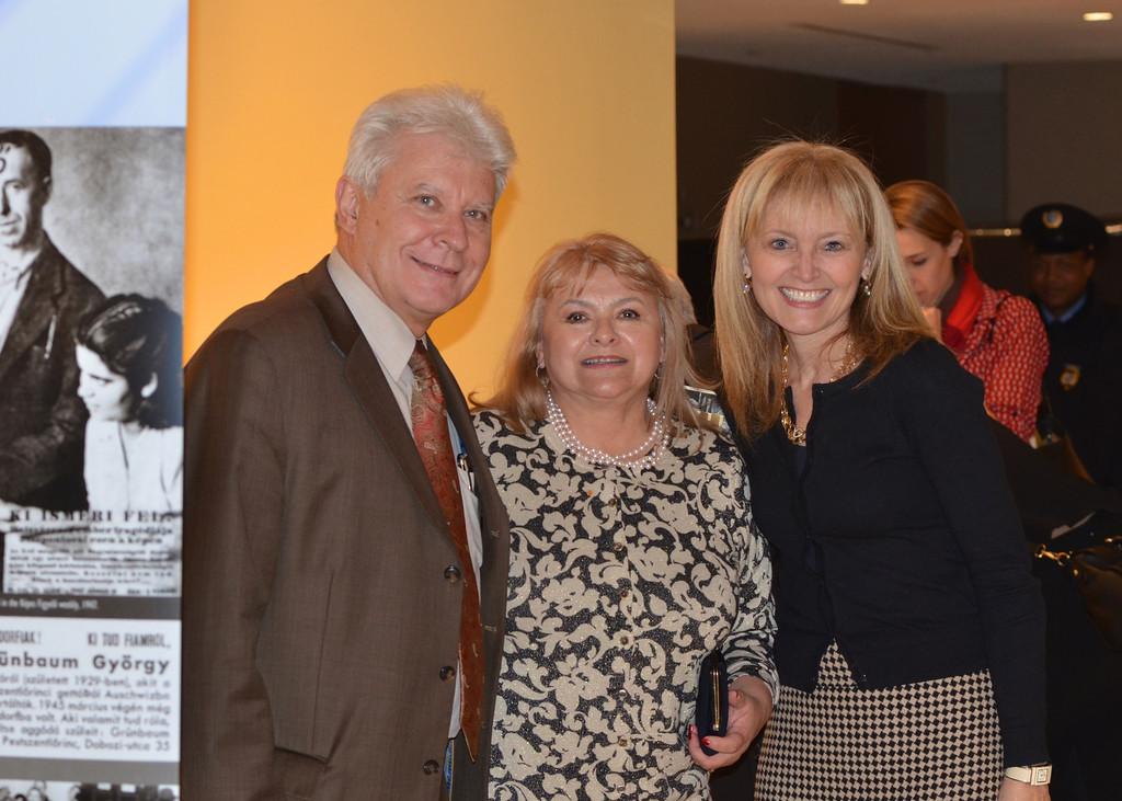 Stefan Fedor, Erika Fedor, Kathrina Lantos Swett - Photo by: Babette Rittmeyer/Lantos Foundation