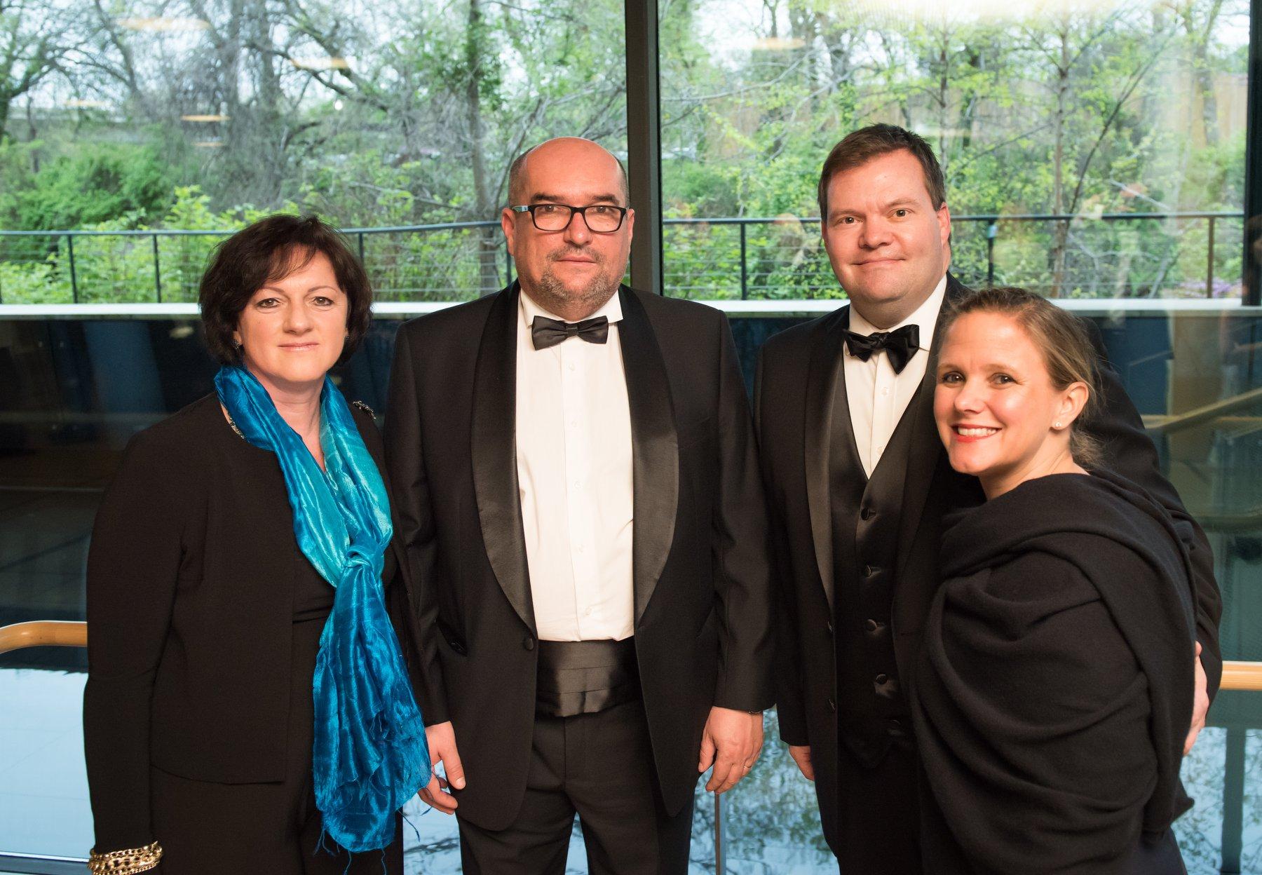 Ambassador Szemerkényi Réka, Dr. Laszlo Brenzovics, Dr. Joe Foster, Vice President of Marymount University and Dr. Stephanie Foster