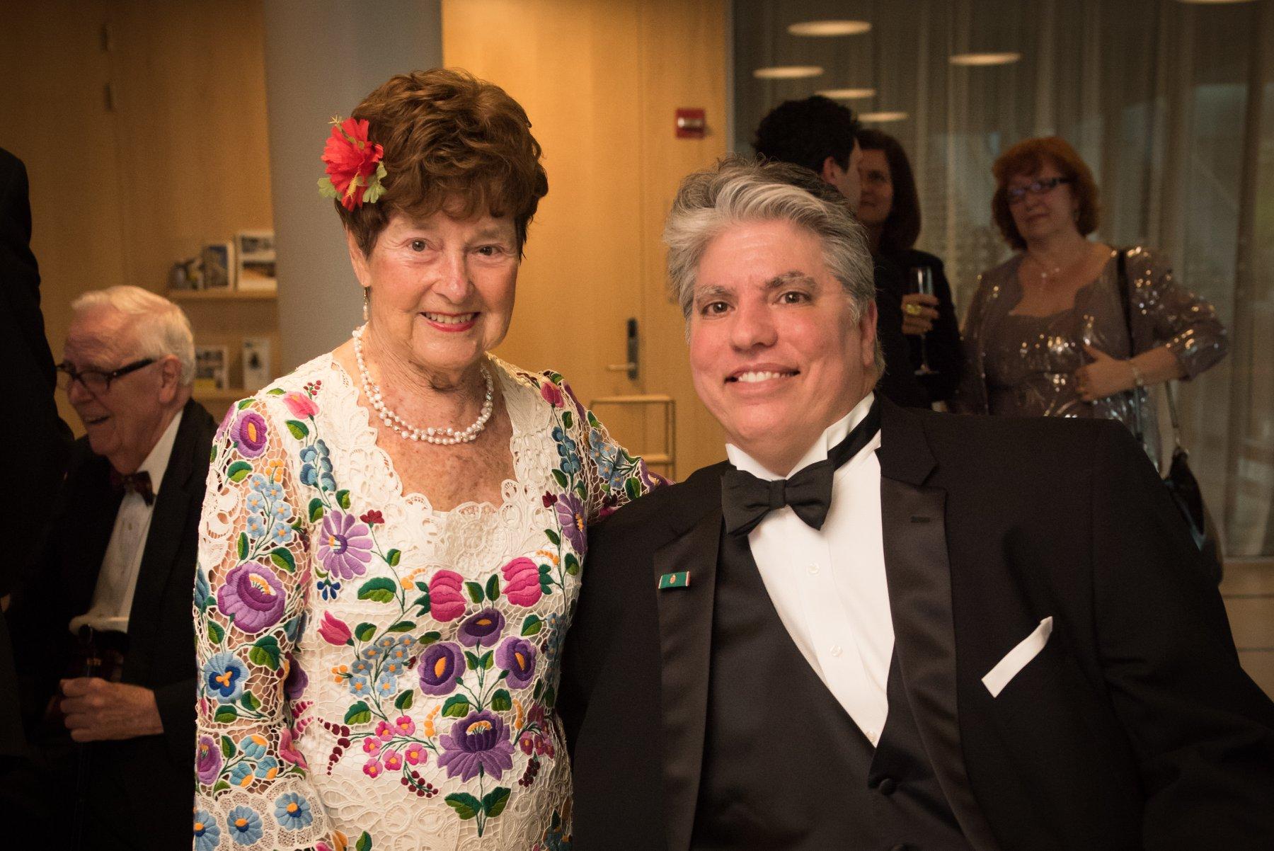 Dr. Jenny Brown and President Emeritus Max Teleki