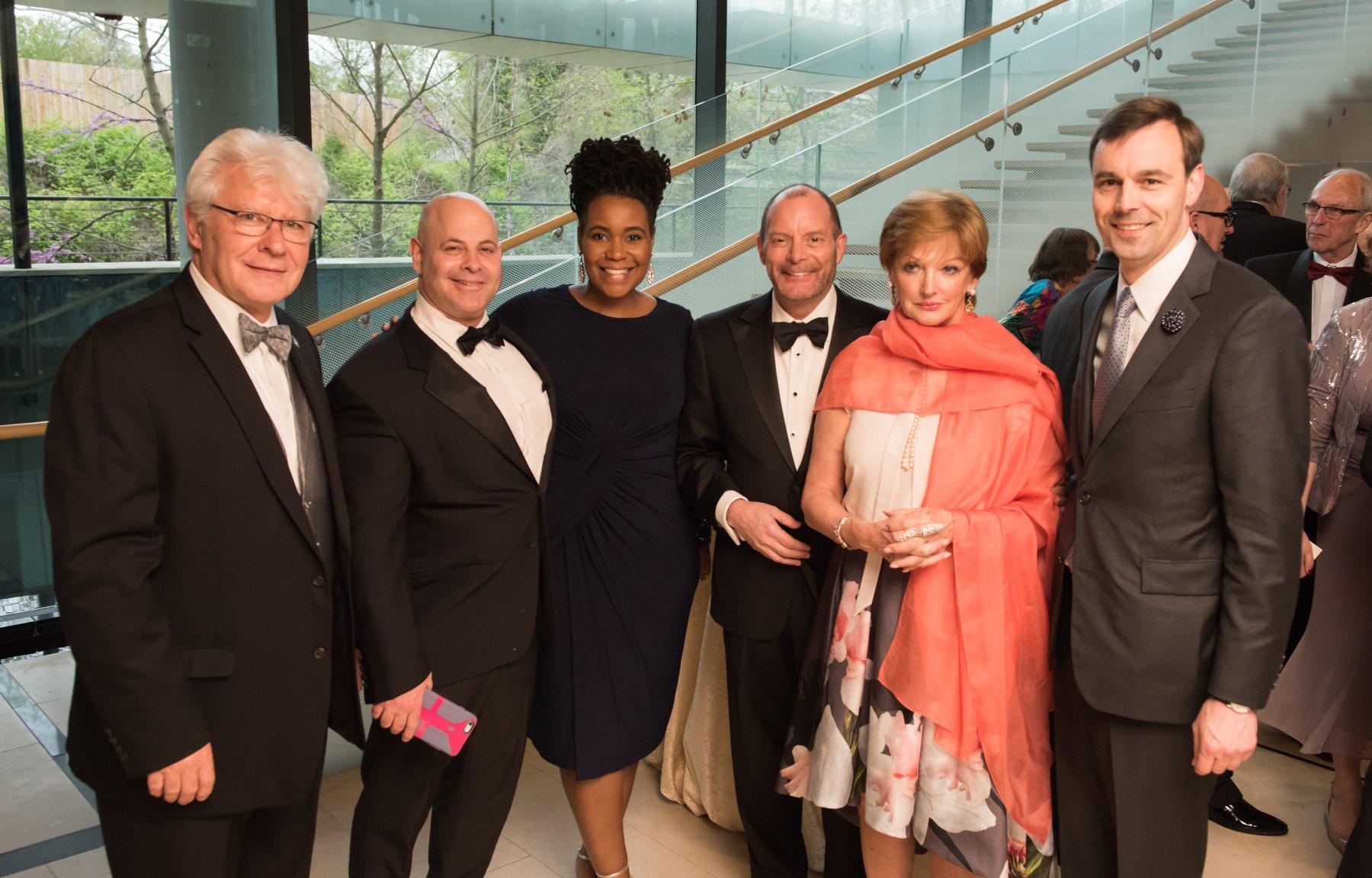 Stefan Fedor with Lee Cohan, Kristal Hartsfield, Craig Engle, Amanda Bowman and Chad Kilbourne of the Magyar Foundation