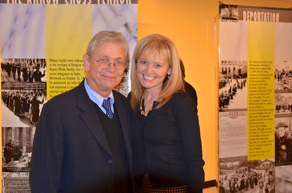 László Hámos, Kathrina Lantos Swett - Photo by: Babette Rittmeyer/Lantos Foundation