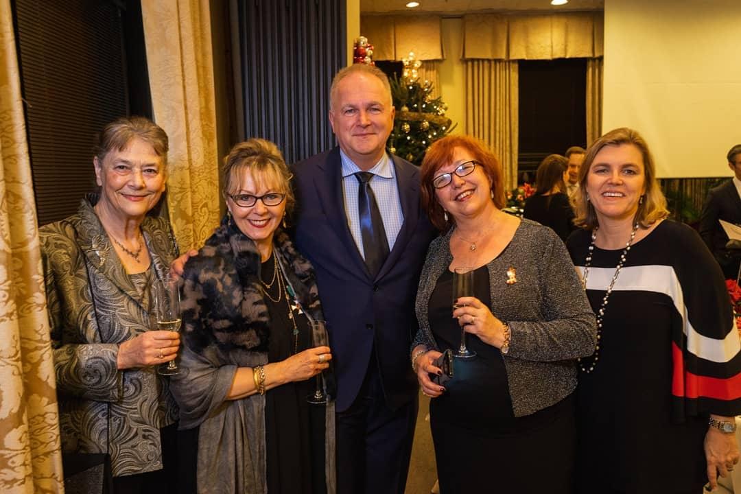 Mrs. Ágnes Fülöp, Ms.Csilla Grauzer, Ambassador Dr. László Szabó, Coalition Chair Dr. Ágnes Virga, Ms. Andrea Lauer Rice