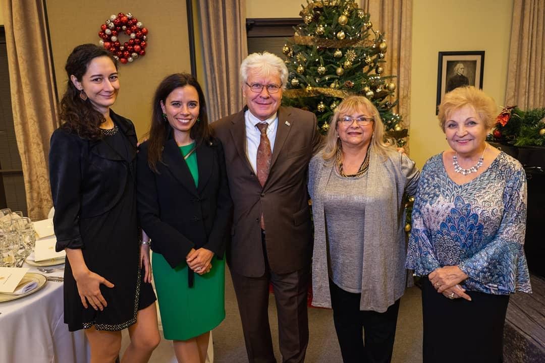 Ms. Anna Juhos, Dr. Ivonn Szeverényi, Coalition VP Mr. Stefan Fedor, Mrs. Erika Fedor, Ms. Éva Beluska