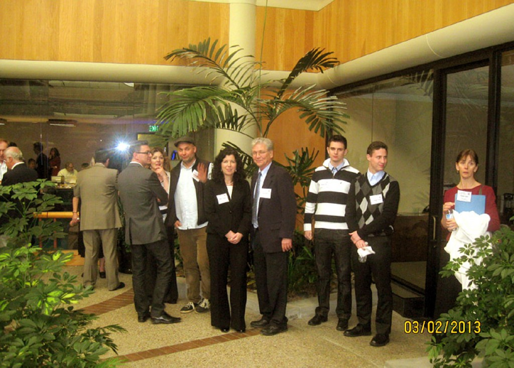 During a break: József Kassai, Éva Timák, Norbert Borbély, Gitta Ungvári, László Hámos, Levente Lovász, Soma Fuller, Katalin Lázár