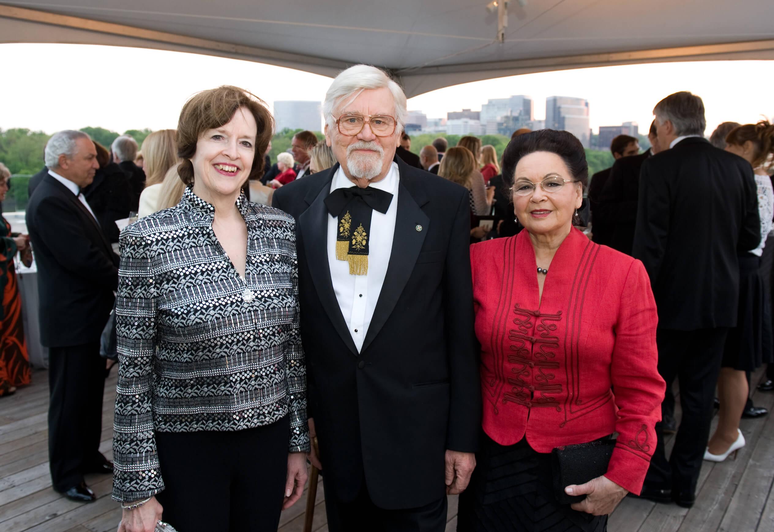 Ambassador April H. Foley, Dr. László Böjtös, Mrs. Georgianna Böjtös