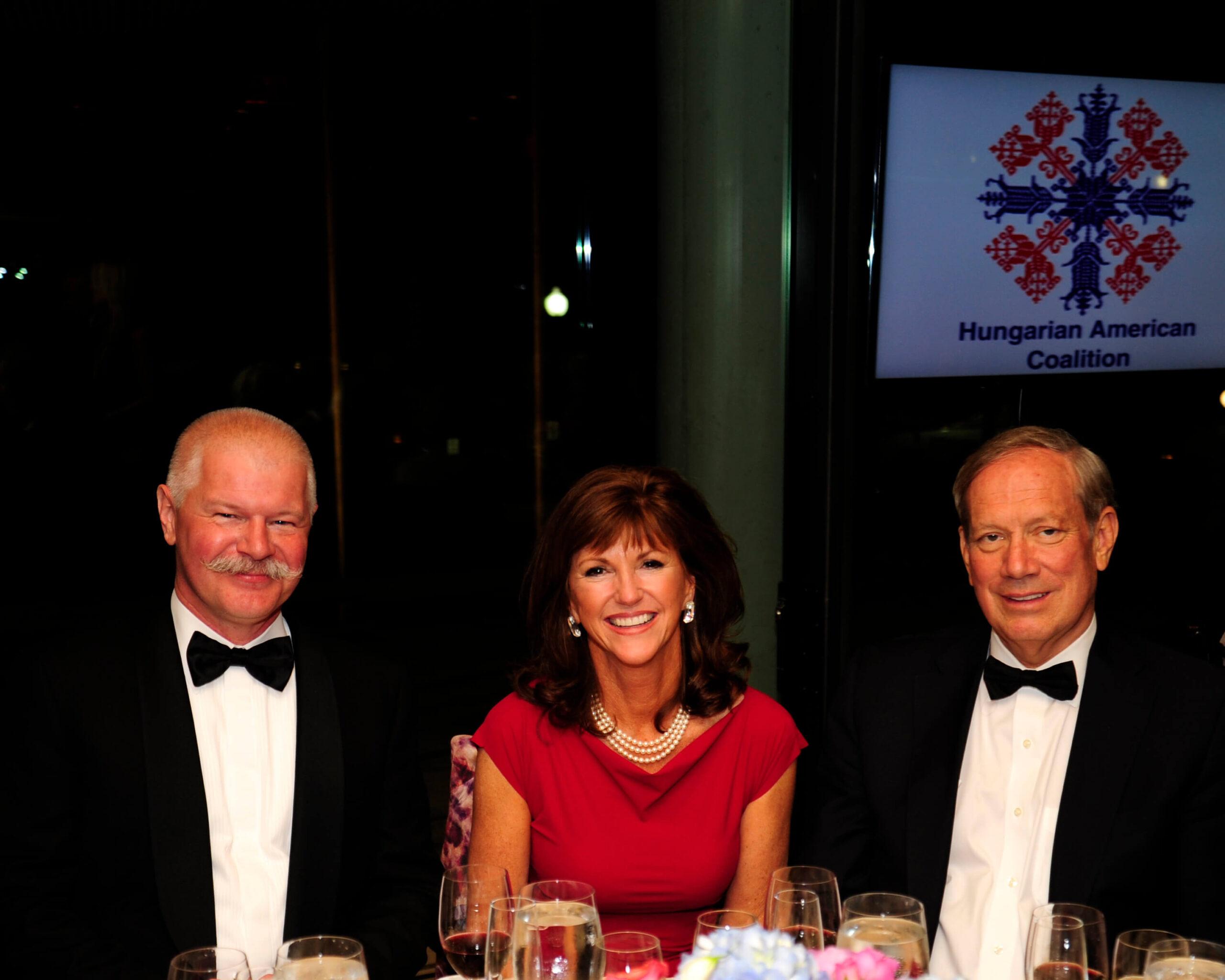 Ambassador Janos Csak, Susan Hutchison. and Governor George Pataki