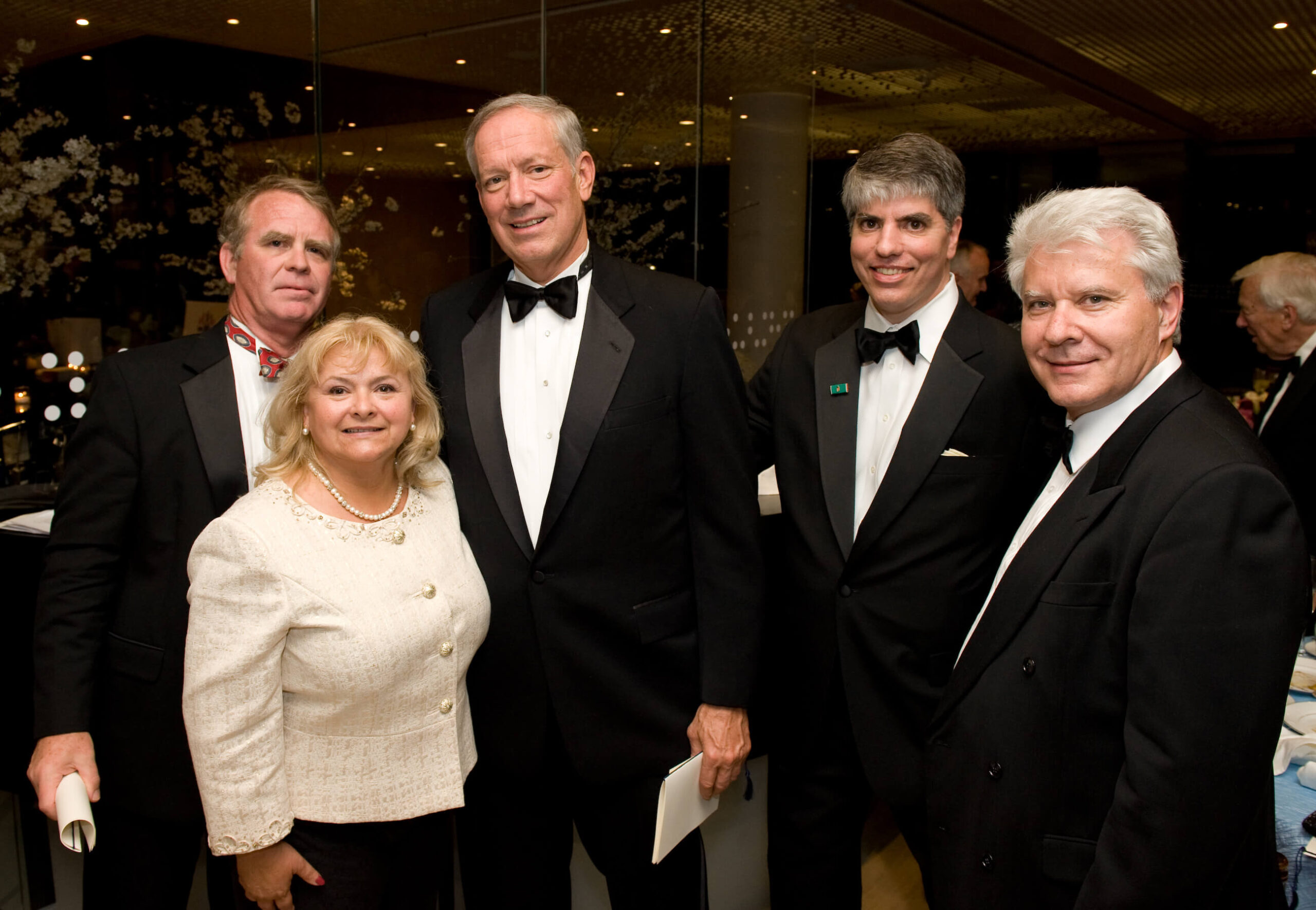 Ambassador Thomas Robertson, Mrs. Erika Fedor, Governor George Pataki, Mr. Maximilian N. Teleki, Mr. Stefan Fedor