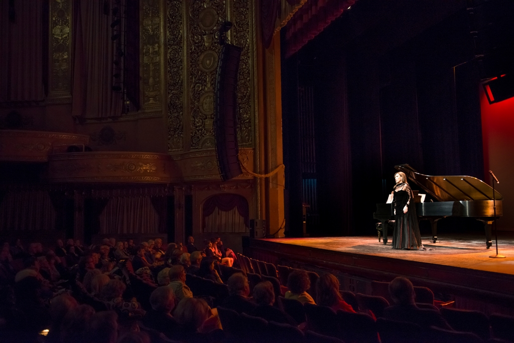 Andrea Rost performing at the Warner Theatre in Washington, DC