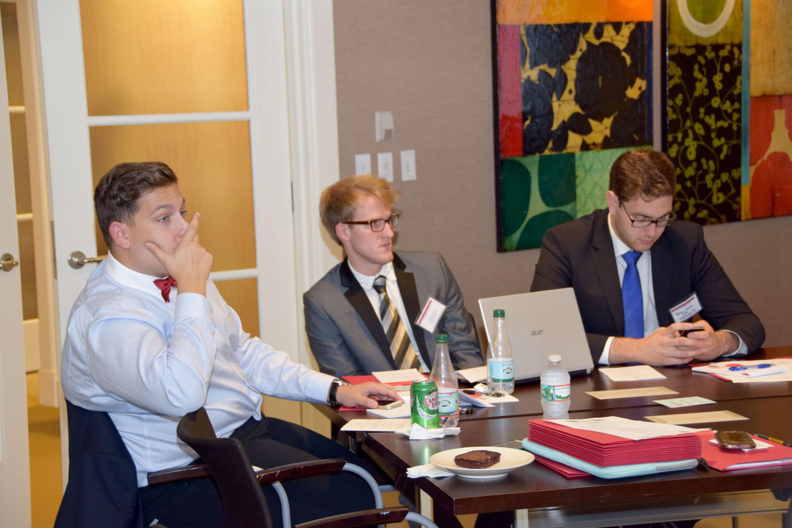 Congressional Internship Program interns Mr. Vince Berényi, Mr. Mátyás Tamási and Mr. Péter Heltai