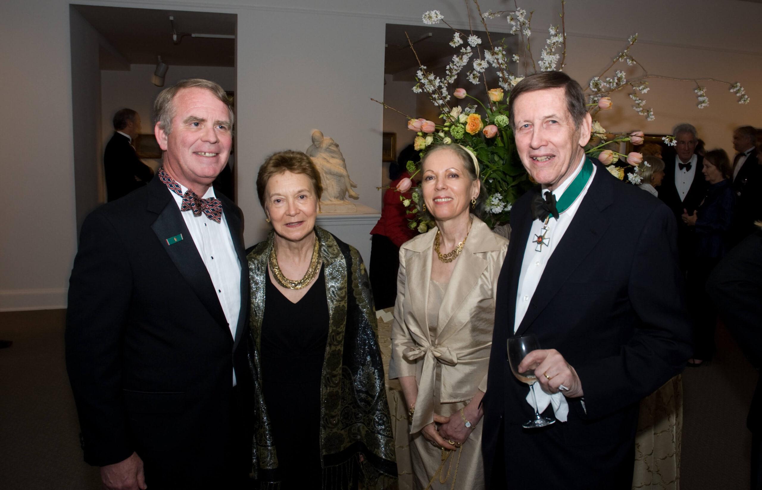 Ambassador Thomas Robertson, Mrs. Antoinette Robertson, Mrs. Anikó Pásztory, Mr. Blaise Pásztory