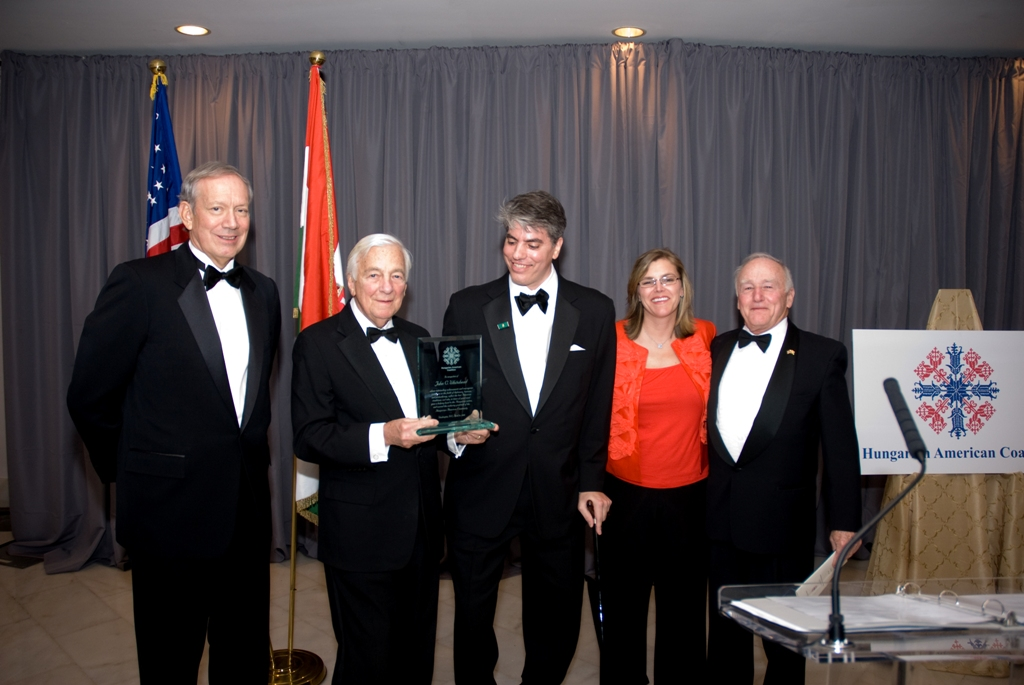 Award ceremony: Governor George Pataki, Mr. John C. Whitehead, Mr. Maximilian N. Teleki, Mrs. Andrea Lauer Rice, Ambassador George H. Walker III