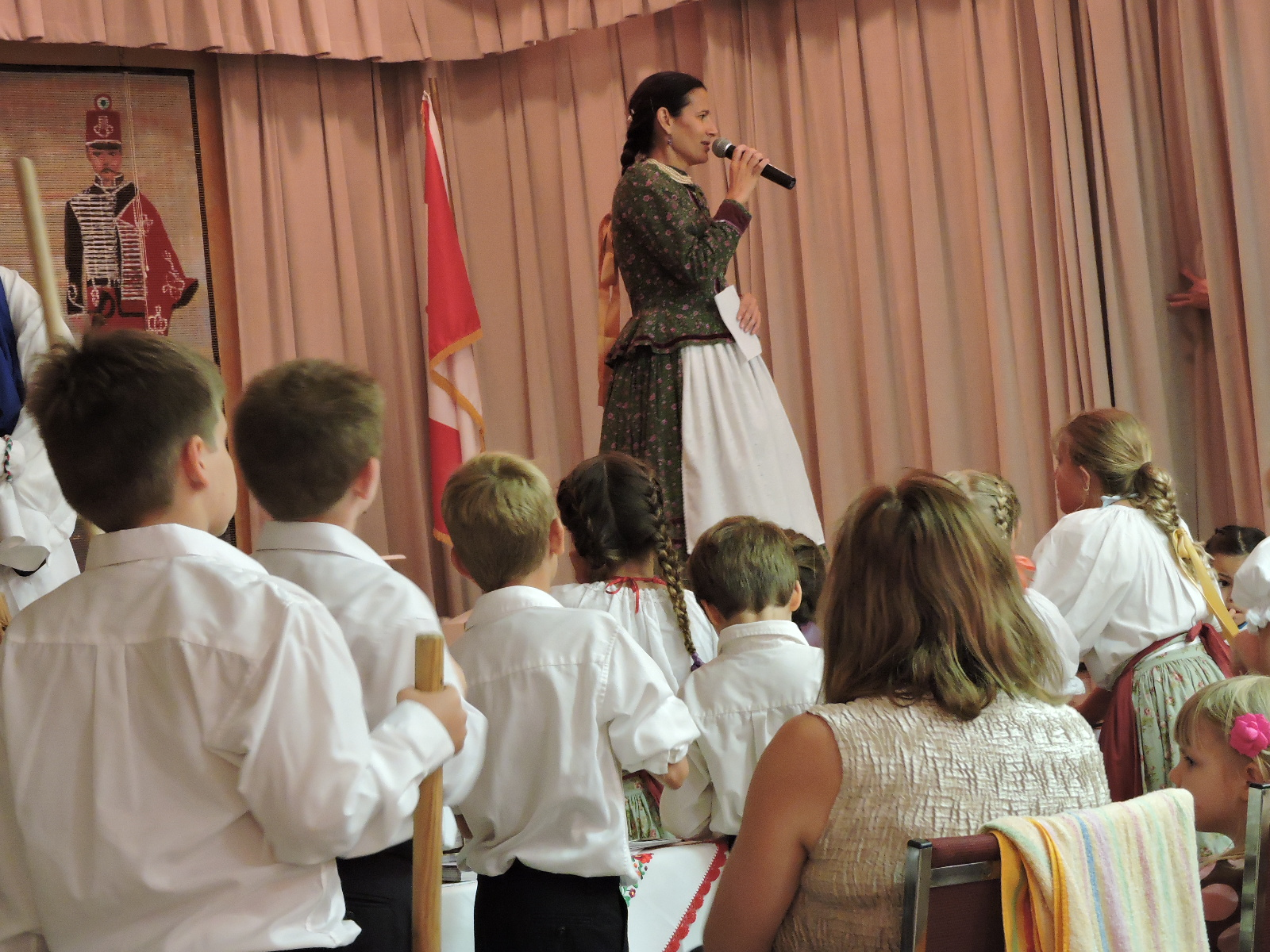 Dance program by Ottilia Varga's Napraforgó children's group