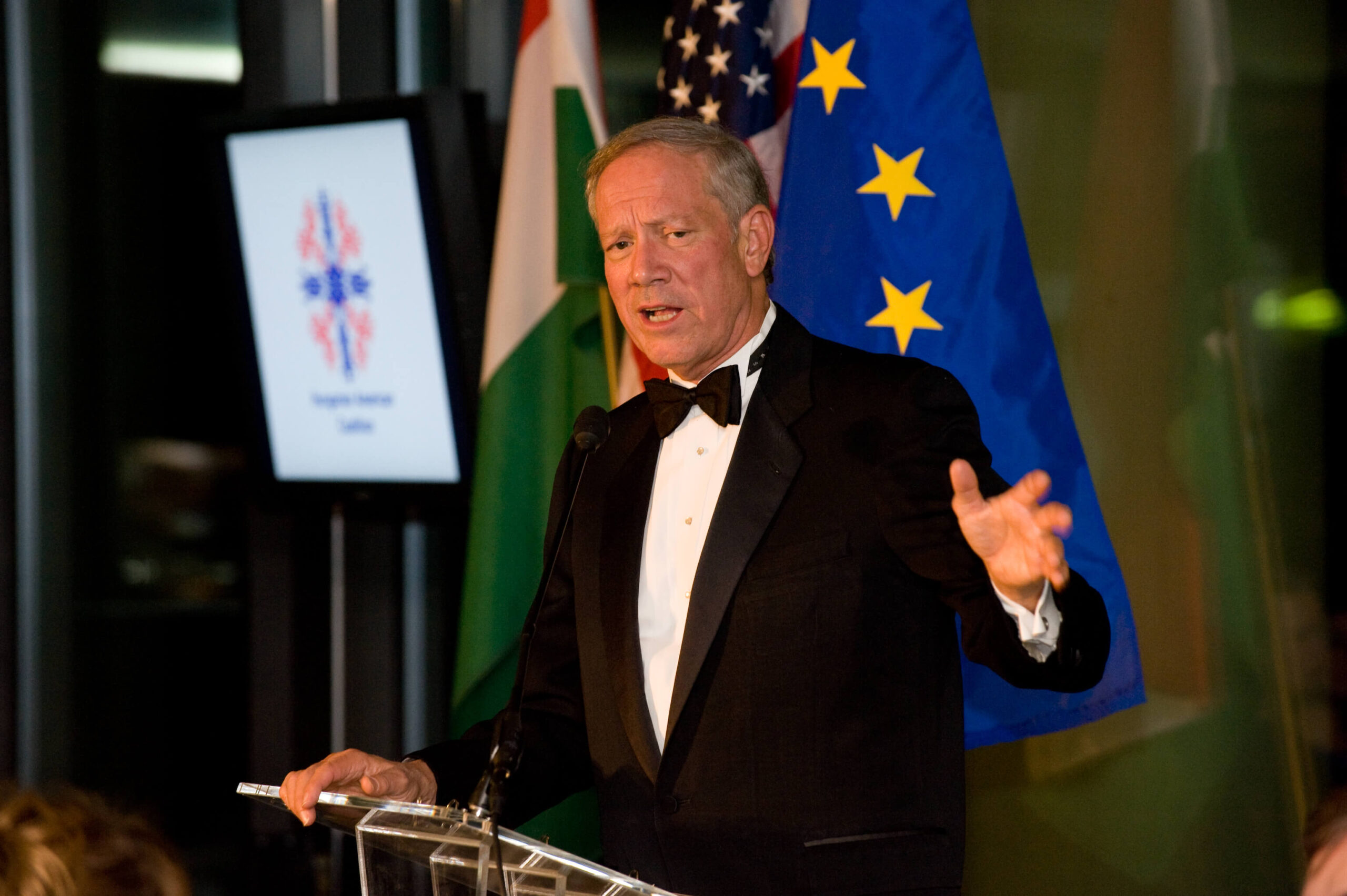 Governor George Pataki delivering his remarks