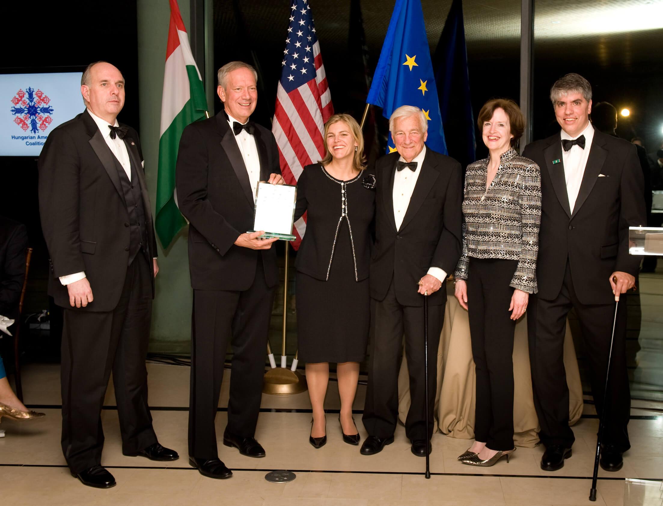 Stephen J. Varga, Governor George Pataki, Andrea Lauer Rice, John C. Whitehead, Ambassador April Foley and Maximilian Teleki