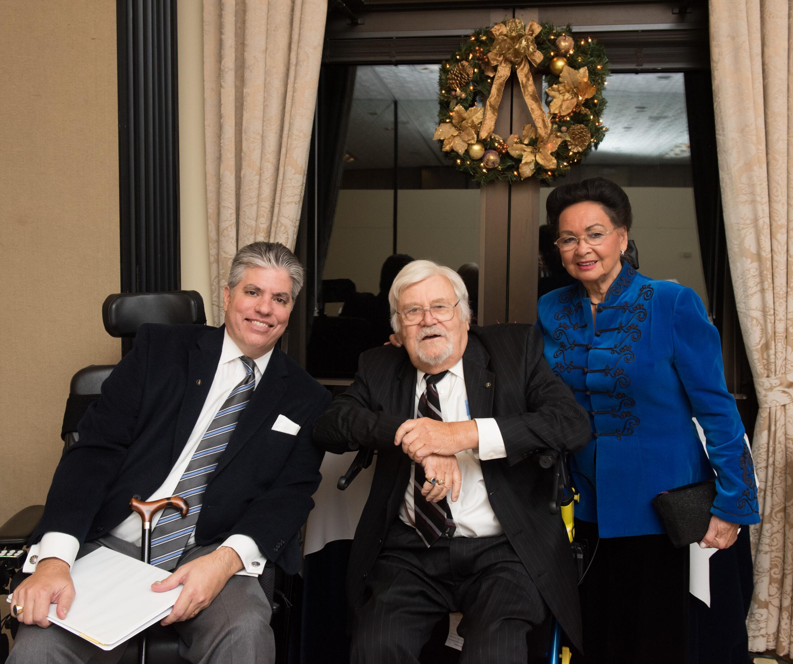 Mr. Maximilian N. Teleki, Mr. László Böjtös and Mrs. Georgianna Böjtös