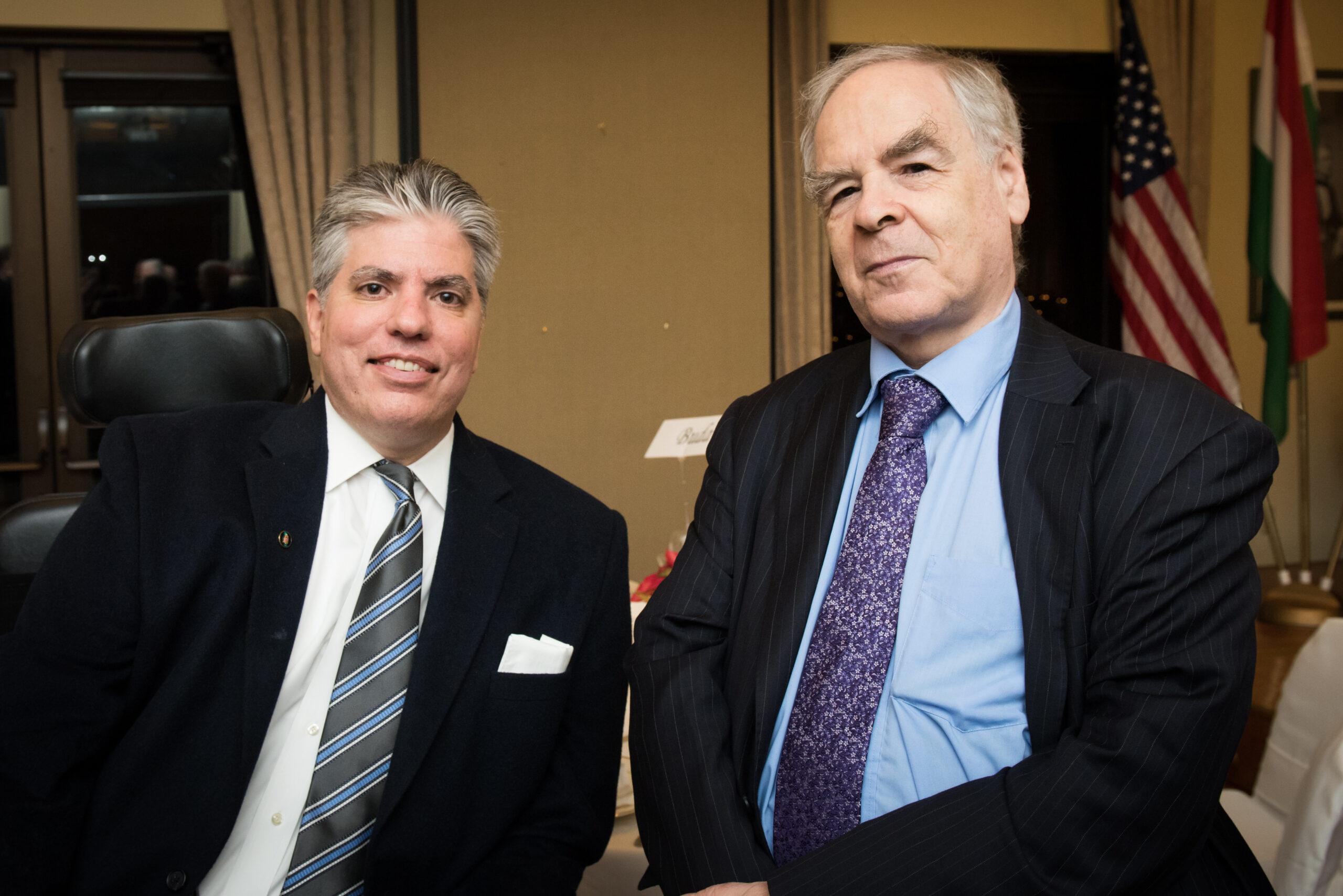 Mr. Maximilian N. Teleki and Dr. György Schöpflin