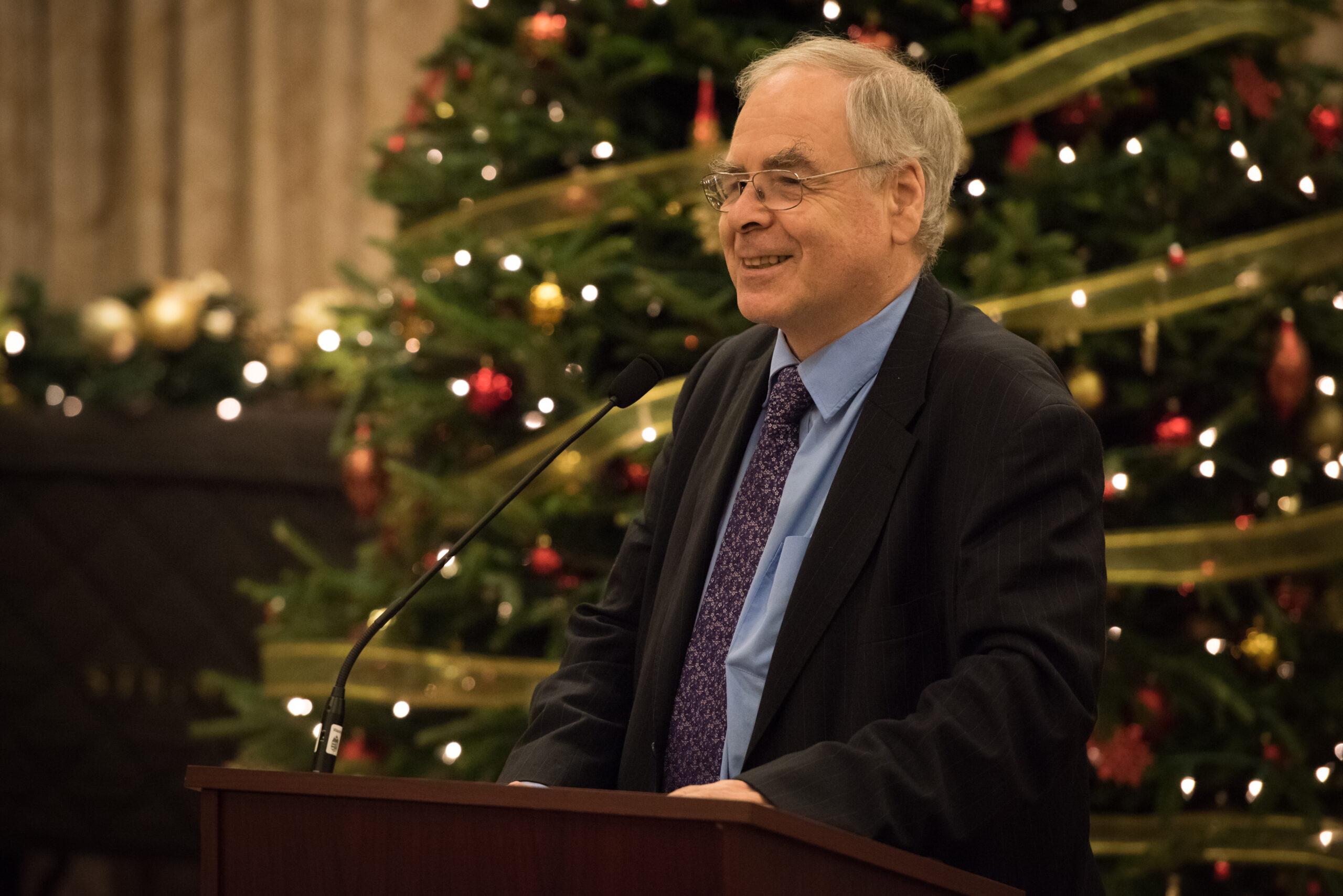 Dr. György Schöpflin delivering his keynote remarks