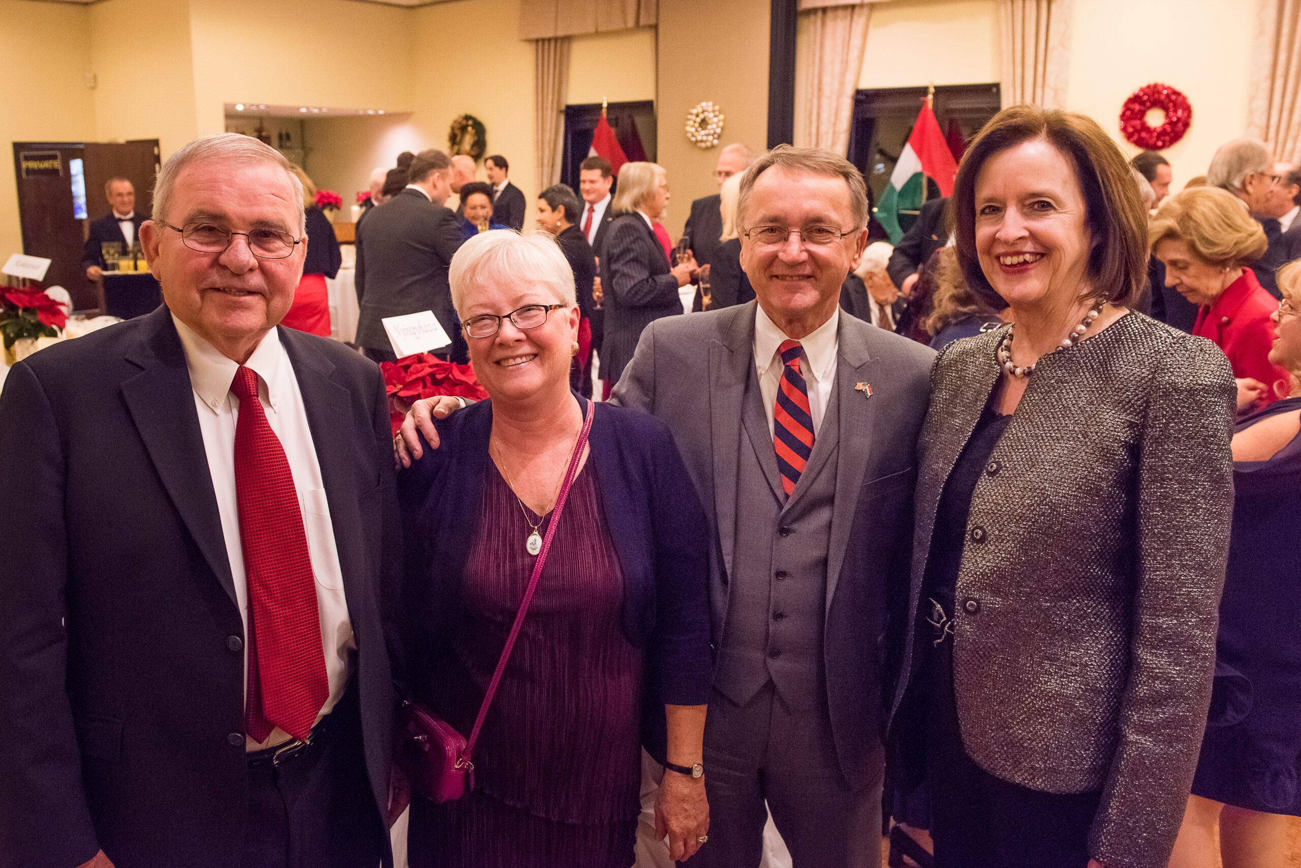 Mr. Peter Kurz, Mrs. Daphne Rozsa, Mr. Gabe Rozsa, Ambassador April H. Foley