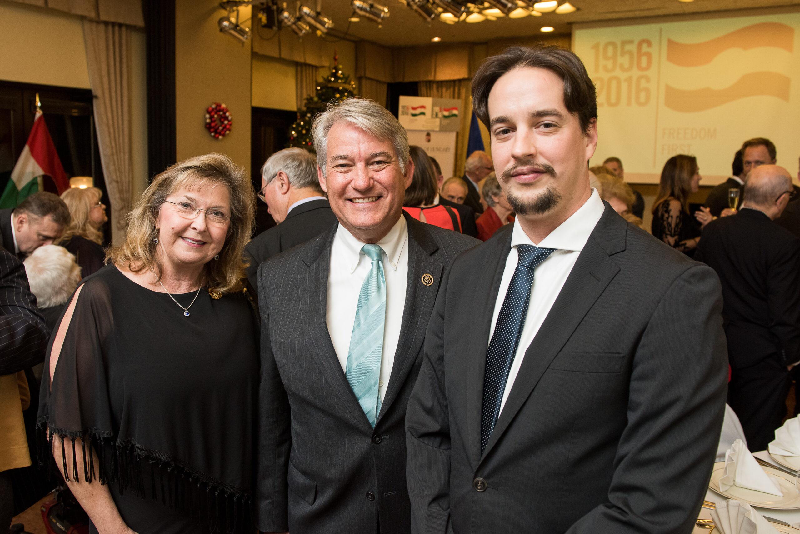 Mrs. Cindy Ross, Representative Dennis Ross, Dr. Péter Rada