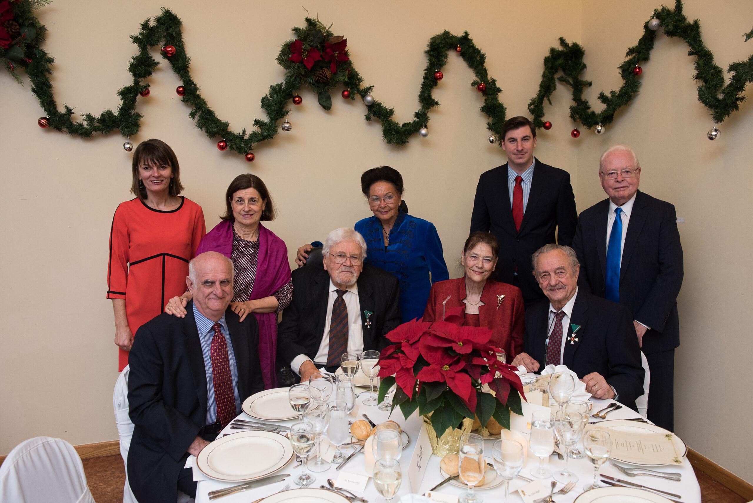 Coalition members and guests at the dinner -Ms. Krisztina Oláh, Mrs. Judit Szekeres, Mrs. Georgianna Bőjtös, Former CIP intern László Baksay, Mr. Zoltán Bagdy, Mr. János Szekeres, Mr. László Bőjtös (Honorary Consul of Ohio), Mrs. Ágnes Fülöp, Coalition VP László Fülöp