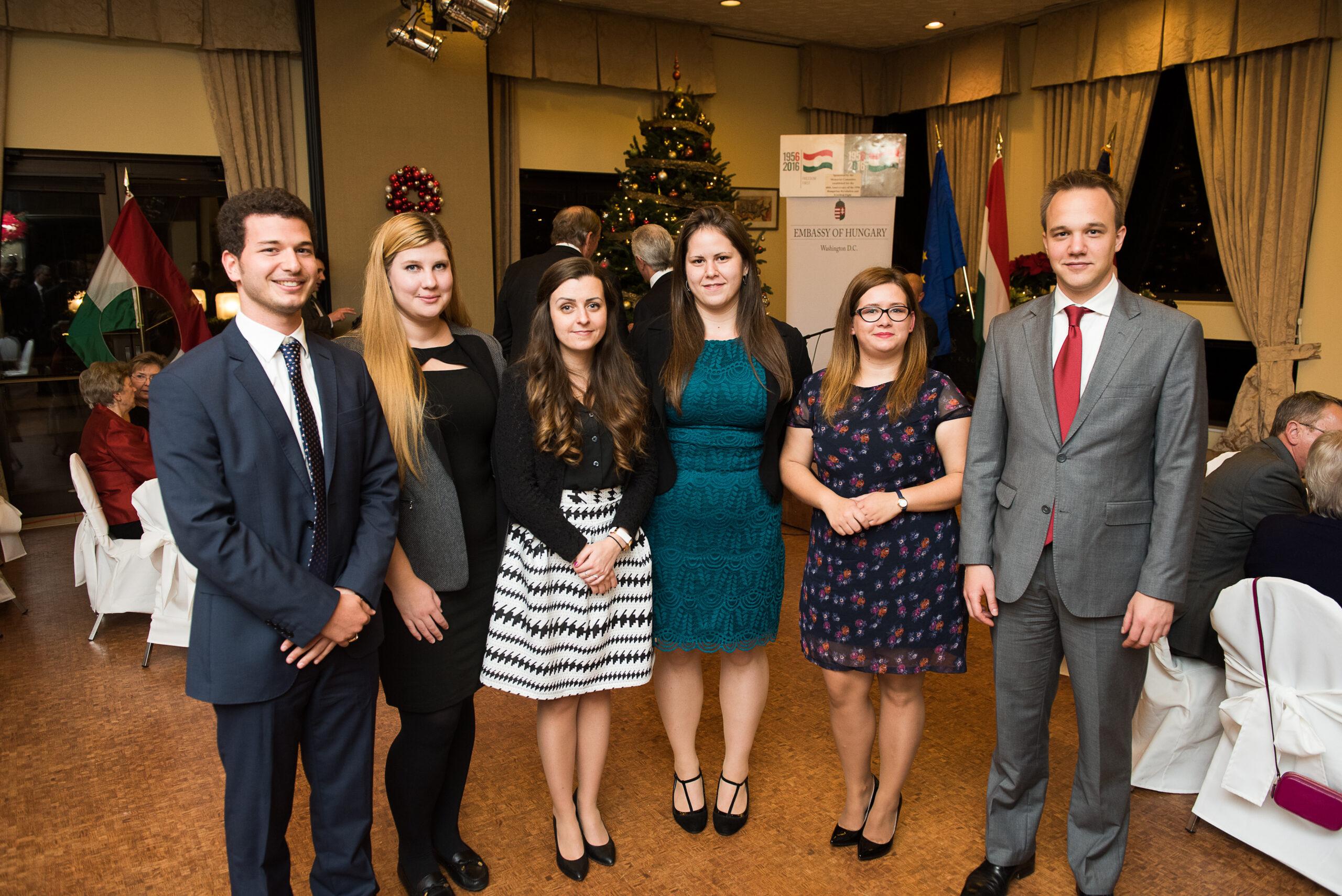 2016 Fall Coalition Interns -Mr. Tamás Forrai, Ms. Dorottya Bobák, Ms. Mária Béres, Ms. Alexandra Tari, Ms. Sarolta Borzási, Mr. Áron Giró-Szász