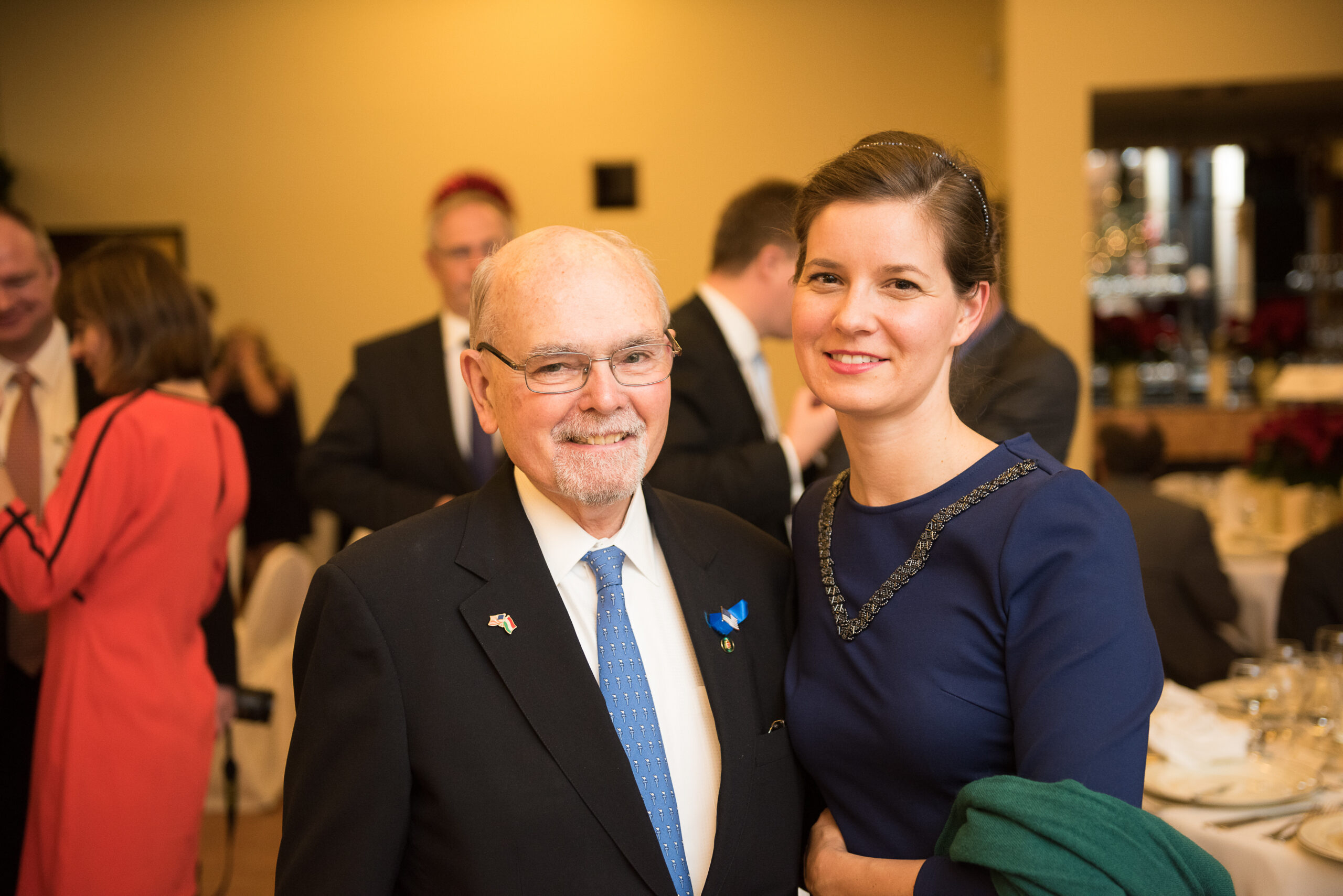 Dr. Lee Edwards (Chairman of the Victims of Communism Memorial Foundation) and Mrs. Anna Smith Lacey (Executive Director of The Hungary Initiatives Foundation)