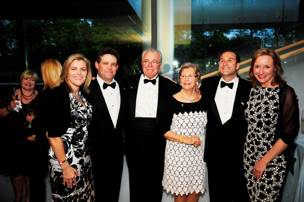 Lauer Family: Andrea Lauer Rice , Charles Barton Rice Jr., John Lauer, Edith K. Lauer, Robert Nagy, and Kriszta Lauer Nagy