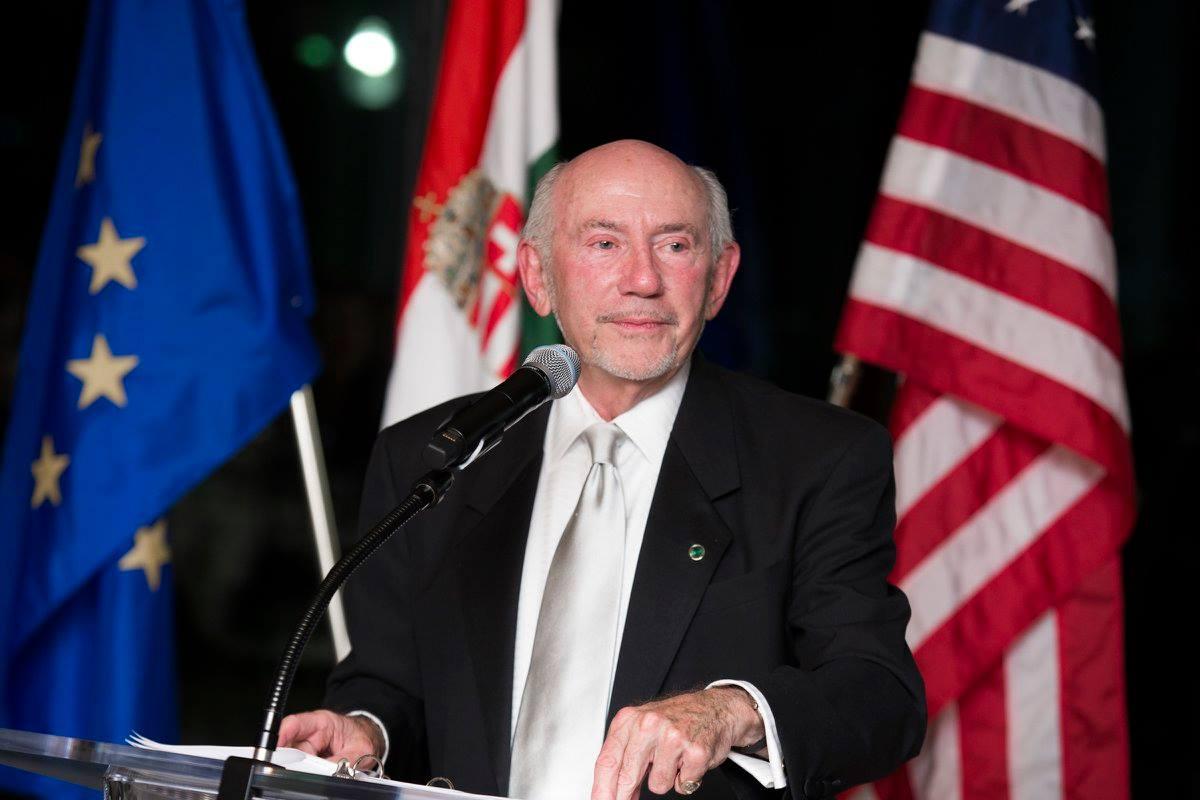 Mr. J. Joe Adorjan delivering his acceptance speech
