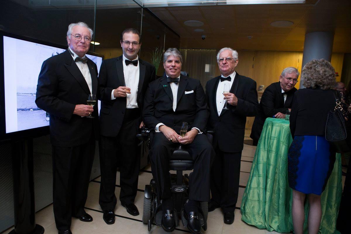 Mr. John Lauer, Mr. Krisztián Orbán, Coalition President Max Teleki, Treasurer Zsolt Szekeres