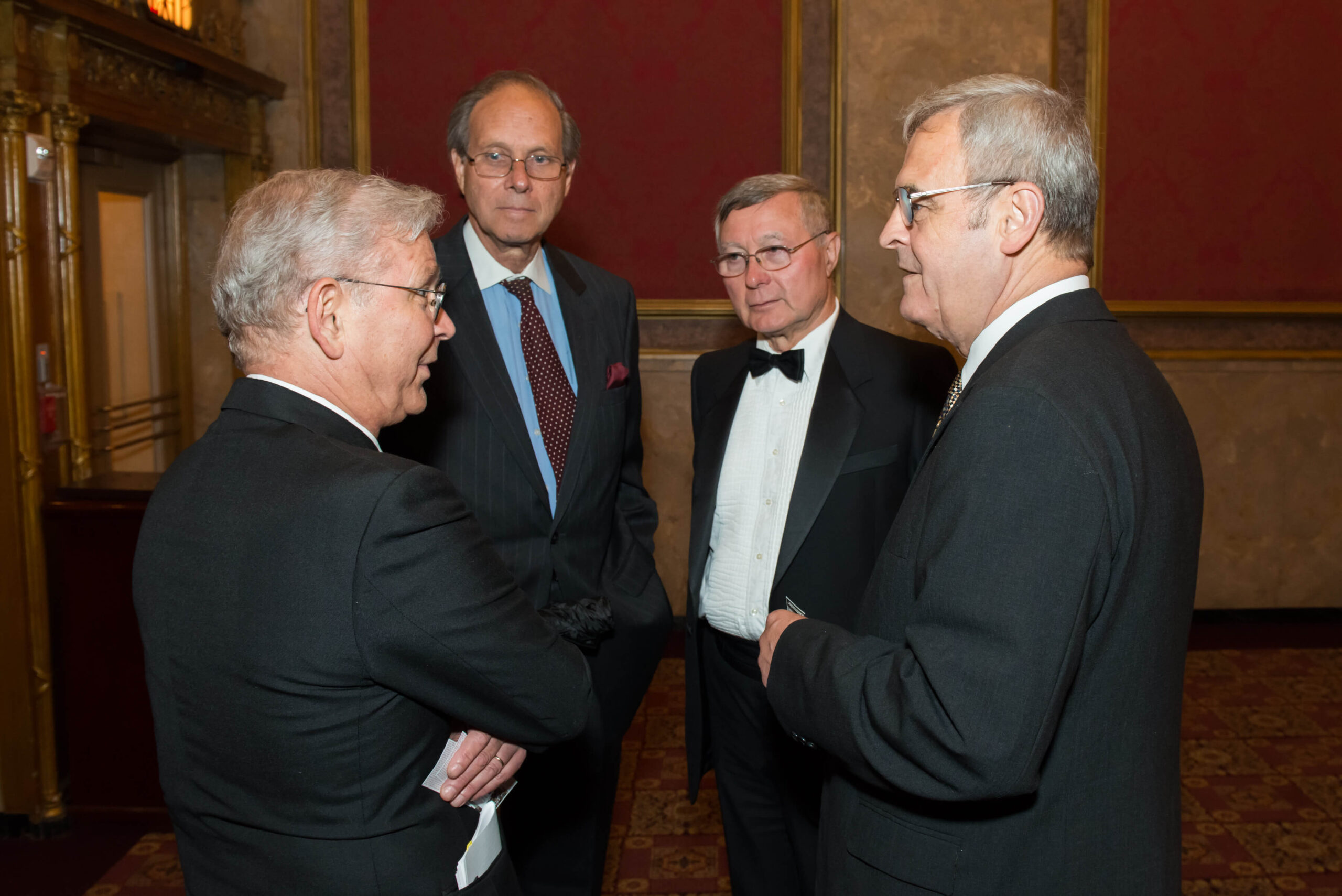 Mr. László Hámos, Mr. Ferenc Koszorús Jr., Dr. Imre Németh and Bishop László Tőkés