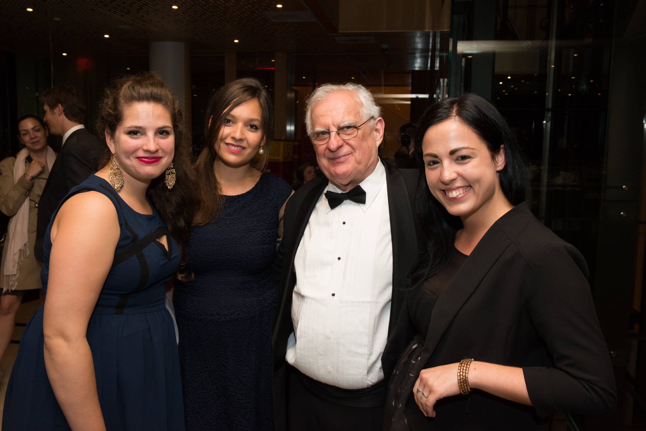 Mr. Zsolt Szekeres with Coalition interns Ms. Noémi Bánhidi, Ms. Zita Mirk and Ms. Anita Mustos
