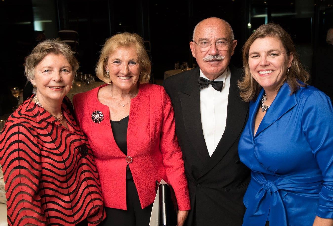 Mrs. Edith Lauer, Dr. Rozália Rábai, Dr. János Martonyi, Coalition VP Andrea Lauer Rice
