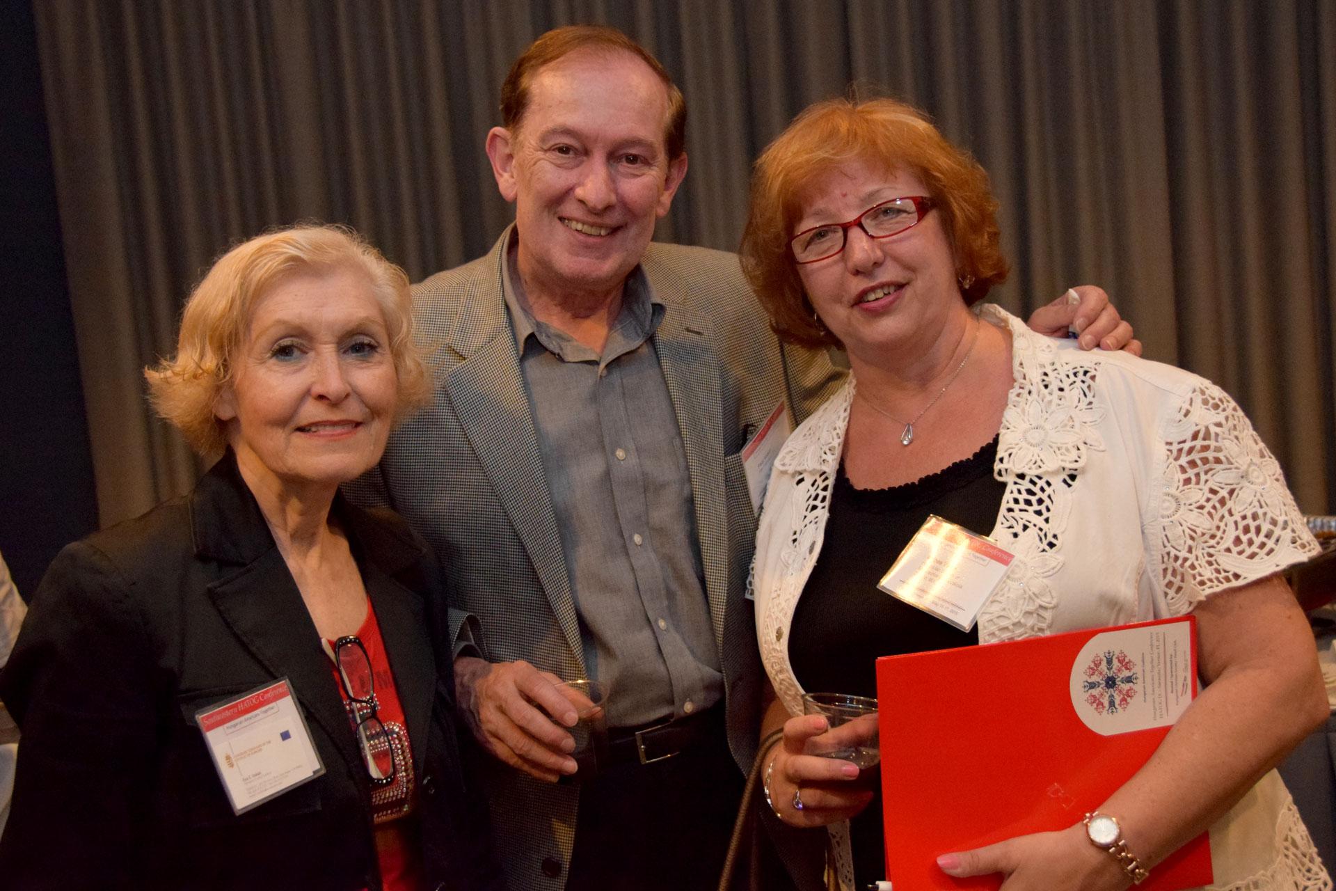 Mrs. Eva E. Voisin, Mr. Paul voisin and Dr.Ágnes Virga