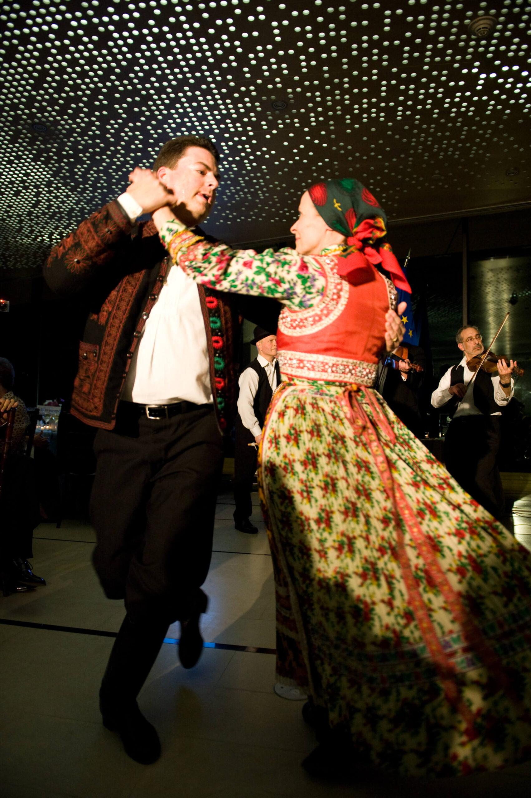 Tisza Folk Ensemble dance performance from Kalotaszeg