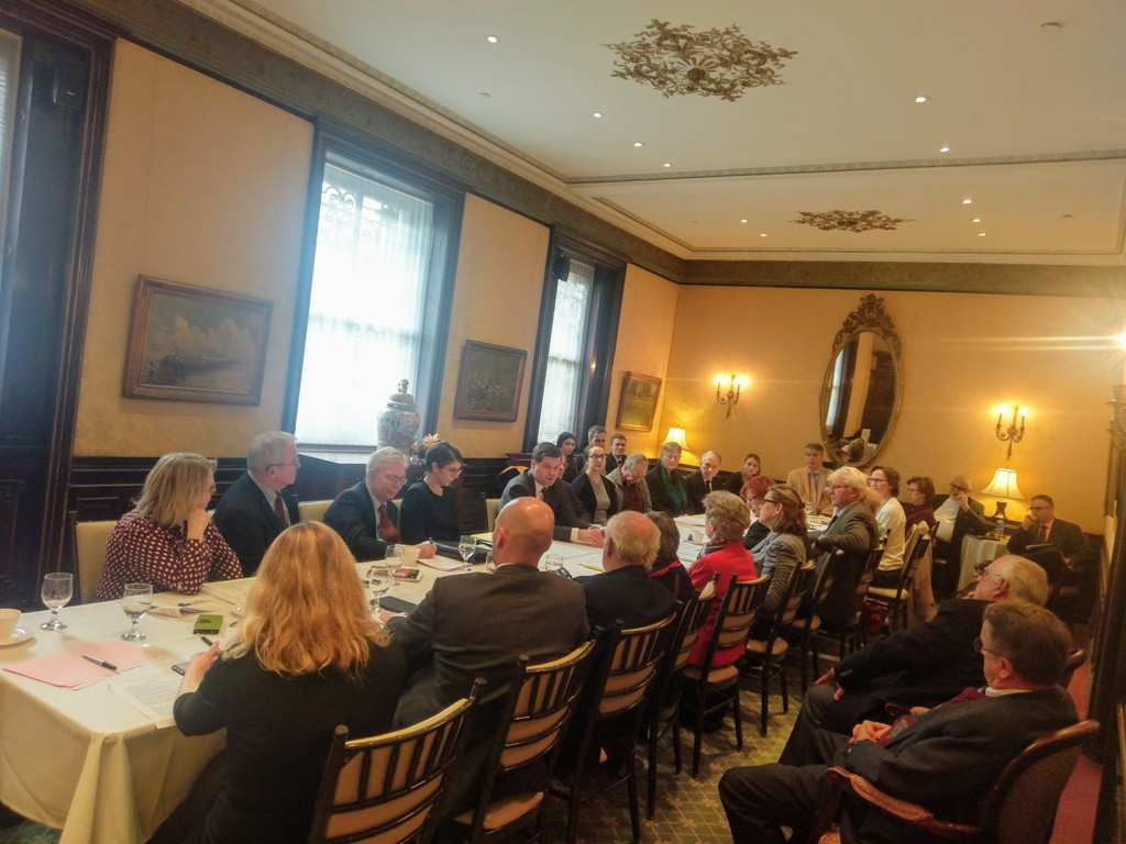 Briefing with State Department officials at the Cosmos Club in Washington DC, with more than 20 Coalition Board members and guests on November 30, 2018.